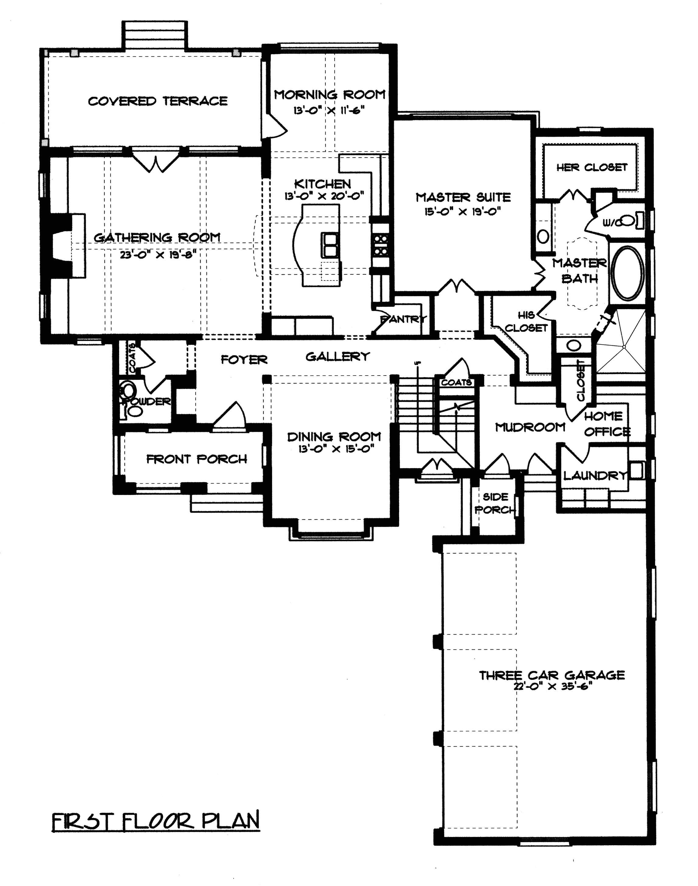 plan 4547 english manor home plan