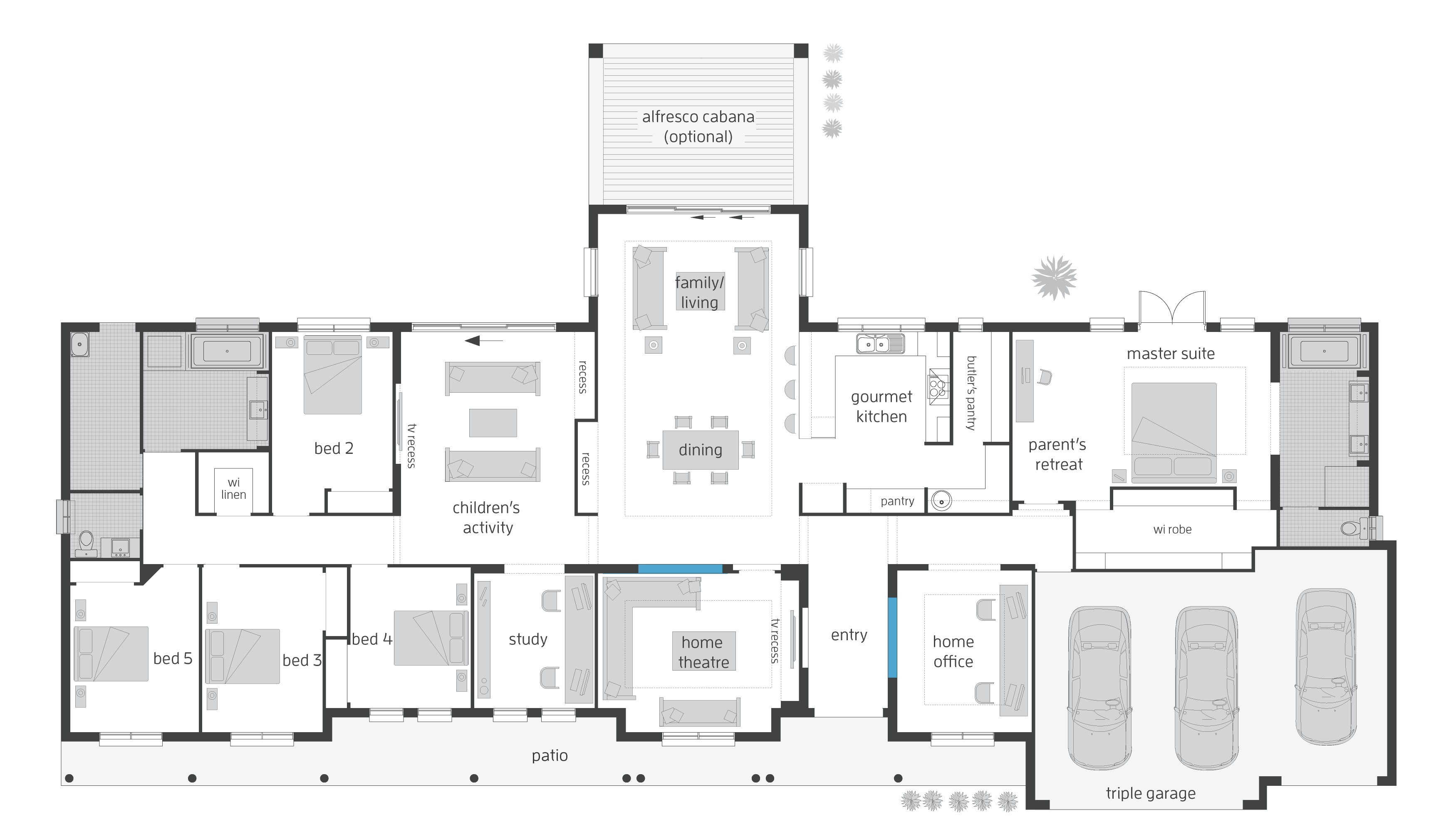 Executive Homes Floor Plans Bronte Floorplans Mcdonald Jones Homes