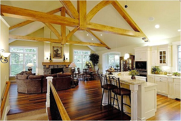 exposed beam ceiling house plans
