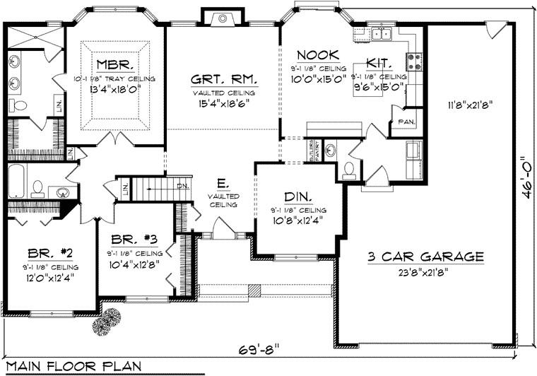 plan ranch floor plans house 2