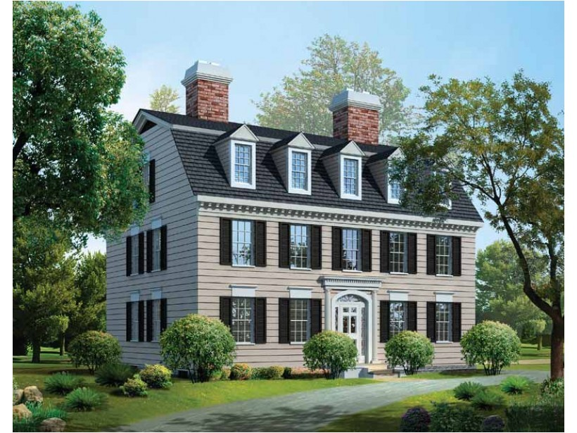 elegance federal style house plans