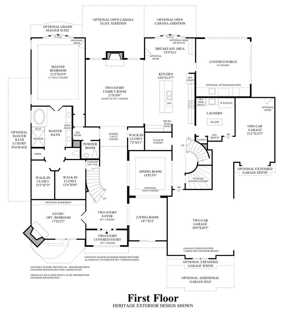 first texas homes renaissance floor plan