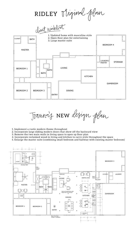 fixer upper floor plans
