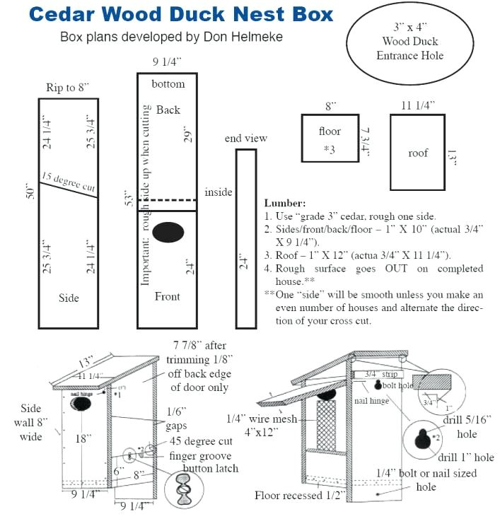 duck house plans wood duck house plans for sale
