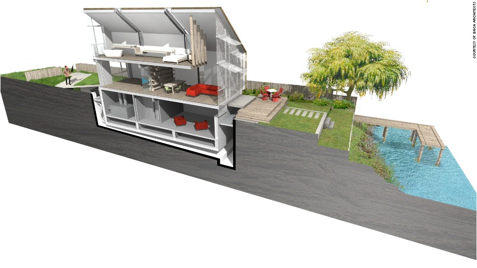 Floating Home Planning Permission Floating House Rises to Flooding Challenge Cnn
