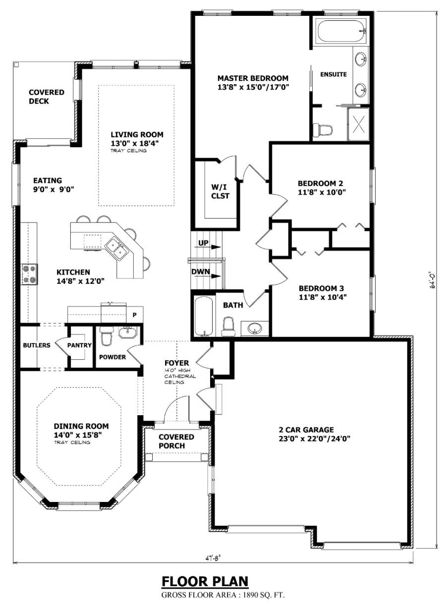 the windsor sidesplit house plan 2