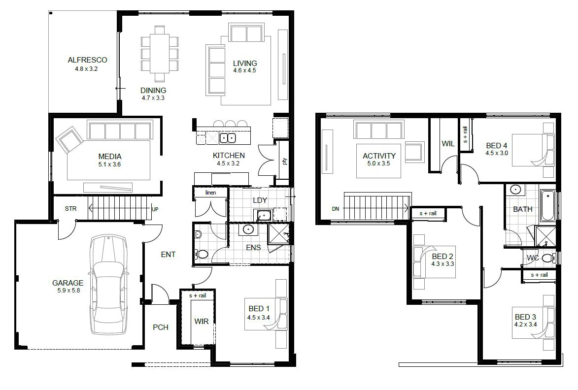 sample floor plan for house modern