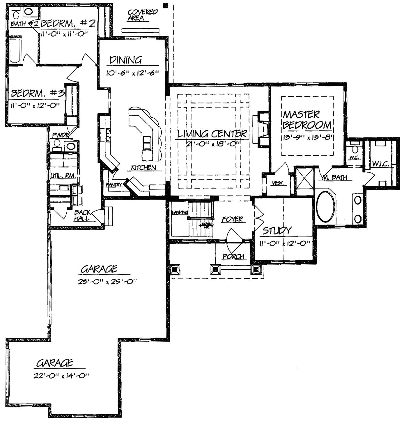 ranch style house plans with open floor plans