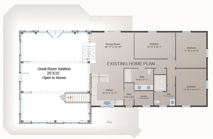 family room addition plans