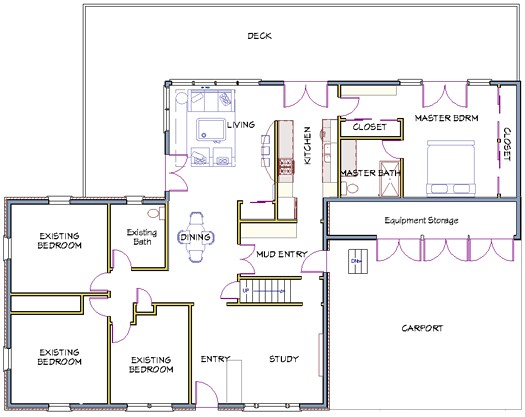 ranch home remodel floor plans