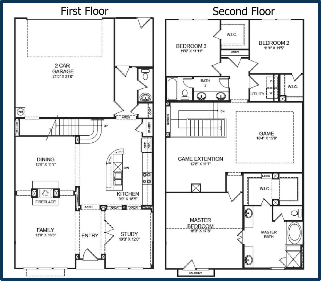 2 story floor plans