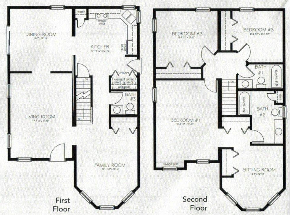 4 bedroom 2 storey house plans