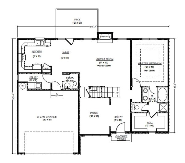 house plans three bedroom ranch