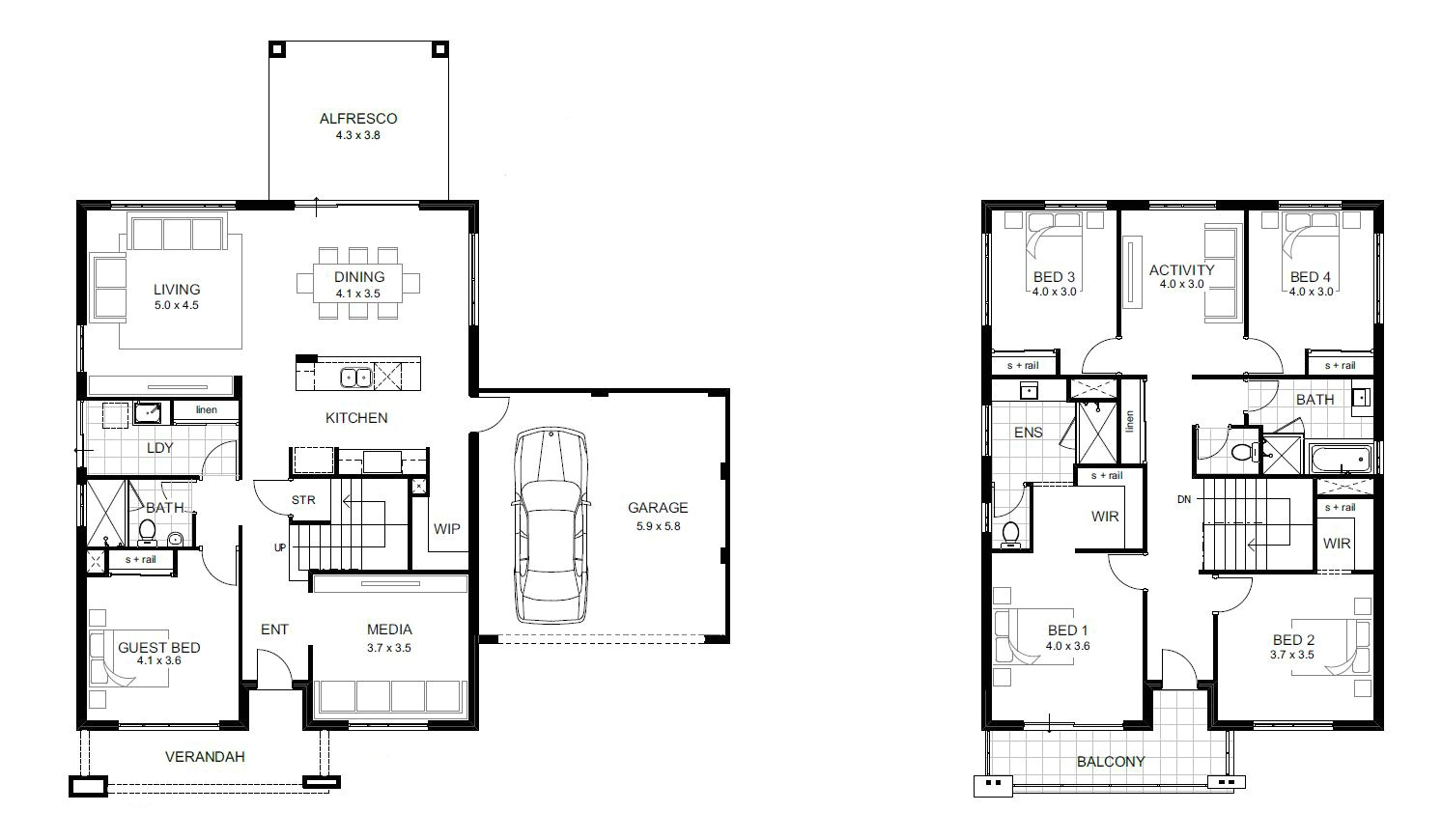 Lovely Floor Plans For 5 Bedroom Homes Bedroom House Plans Home And Interior Also  Floor For 5
