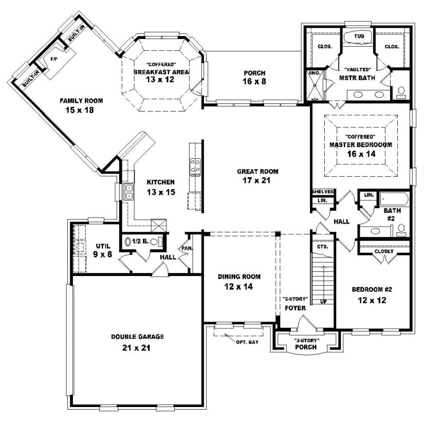2 story 4 bedroom 3 bath house plans
