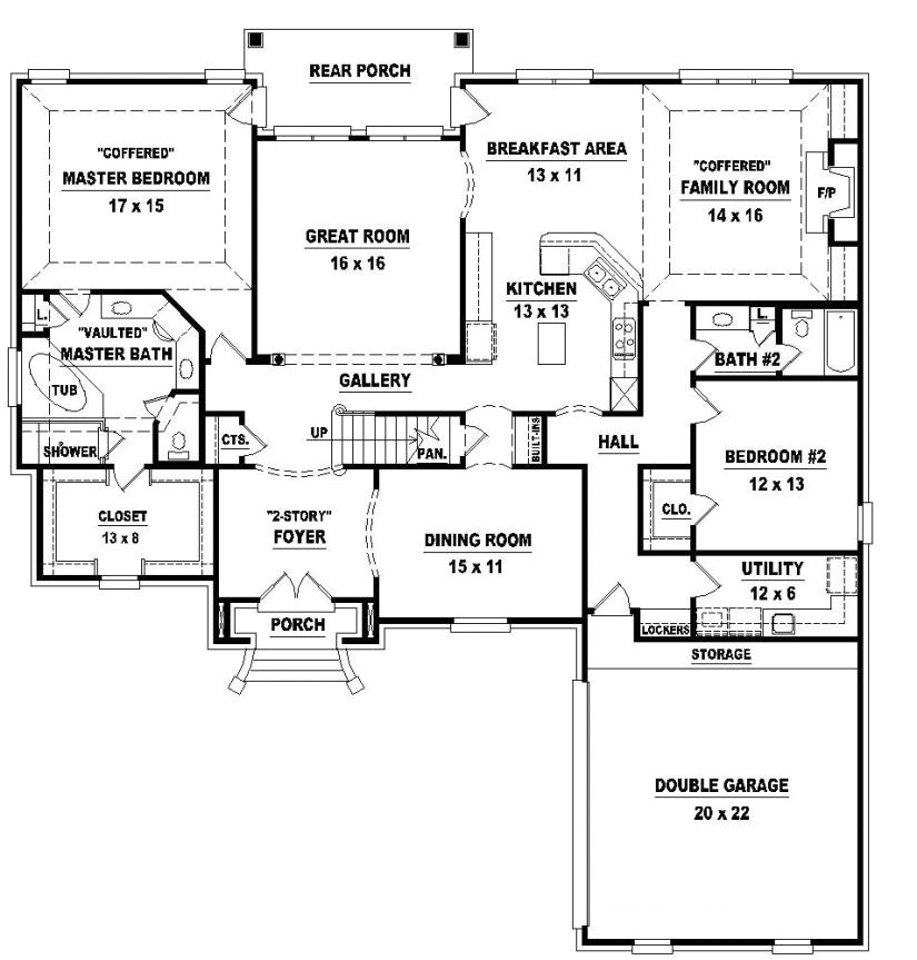 654026 two story 4 bedroom 2c 3 bath french style house plan
