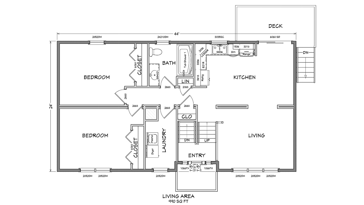 bl001 cape cod modular home floor plan 01