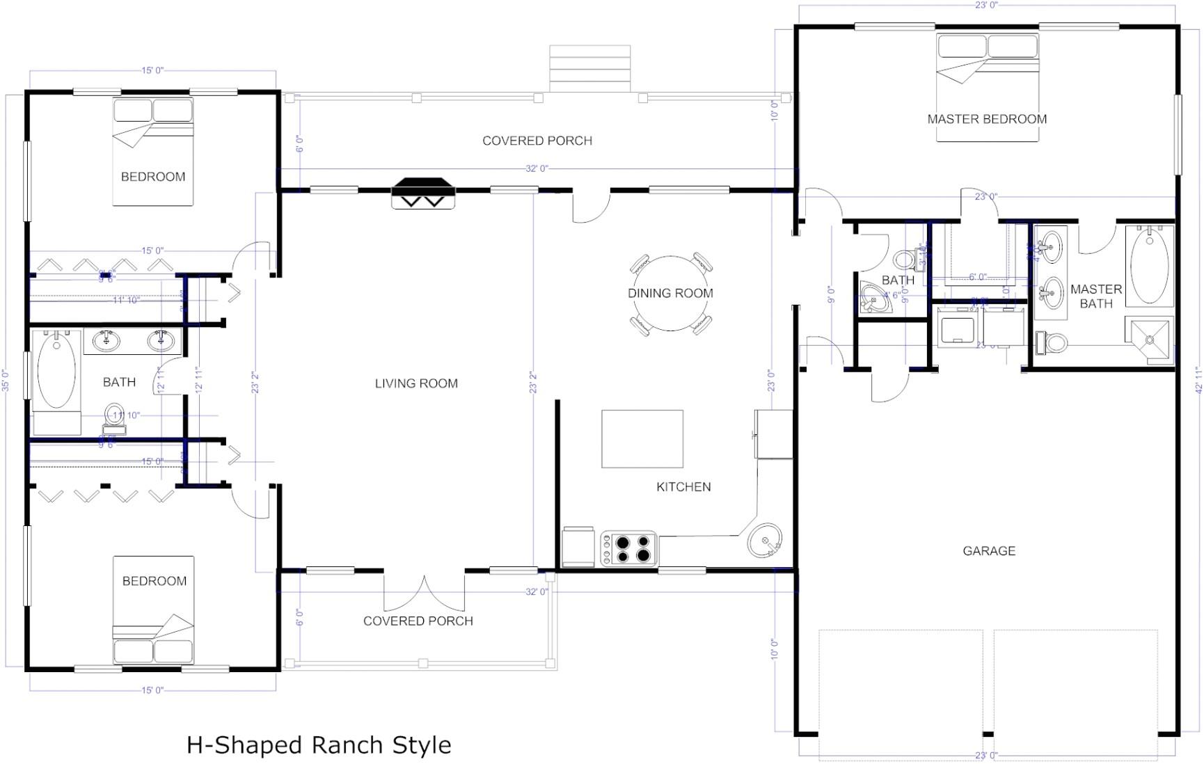flooring open floor plans patio home plan houser with sunk in in patio home floor plans free