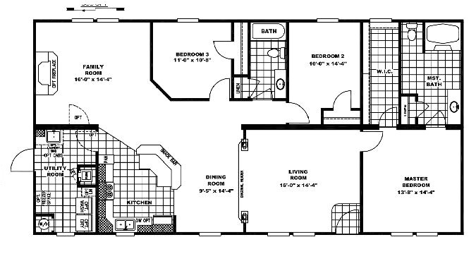 Floor Plans for Mobile Homes Double Wide 10 Great Manufactured Home Floor Plans