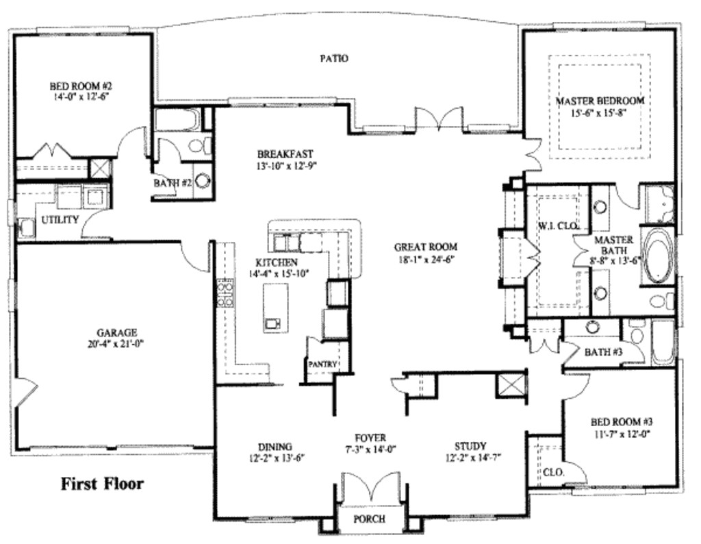 simple one story house plan house plans pinterest b6192648829c0412