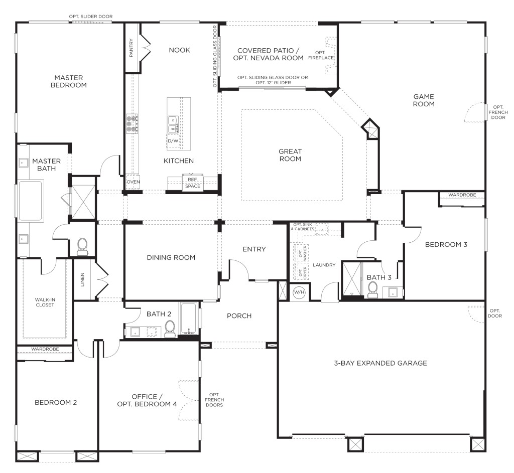 the best single story floor plans one story house plans pardee homes ideas
