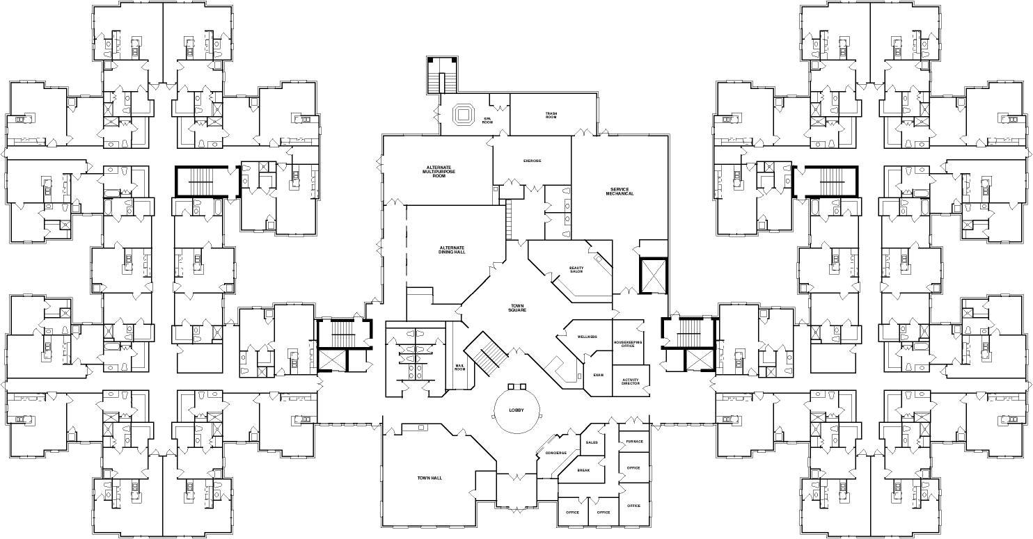 Floor Plans for Senior Homes Senior Housing Home Interior Design Ideashome Interior