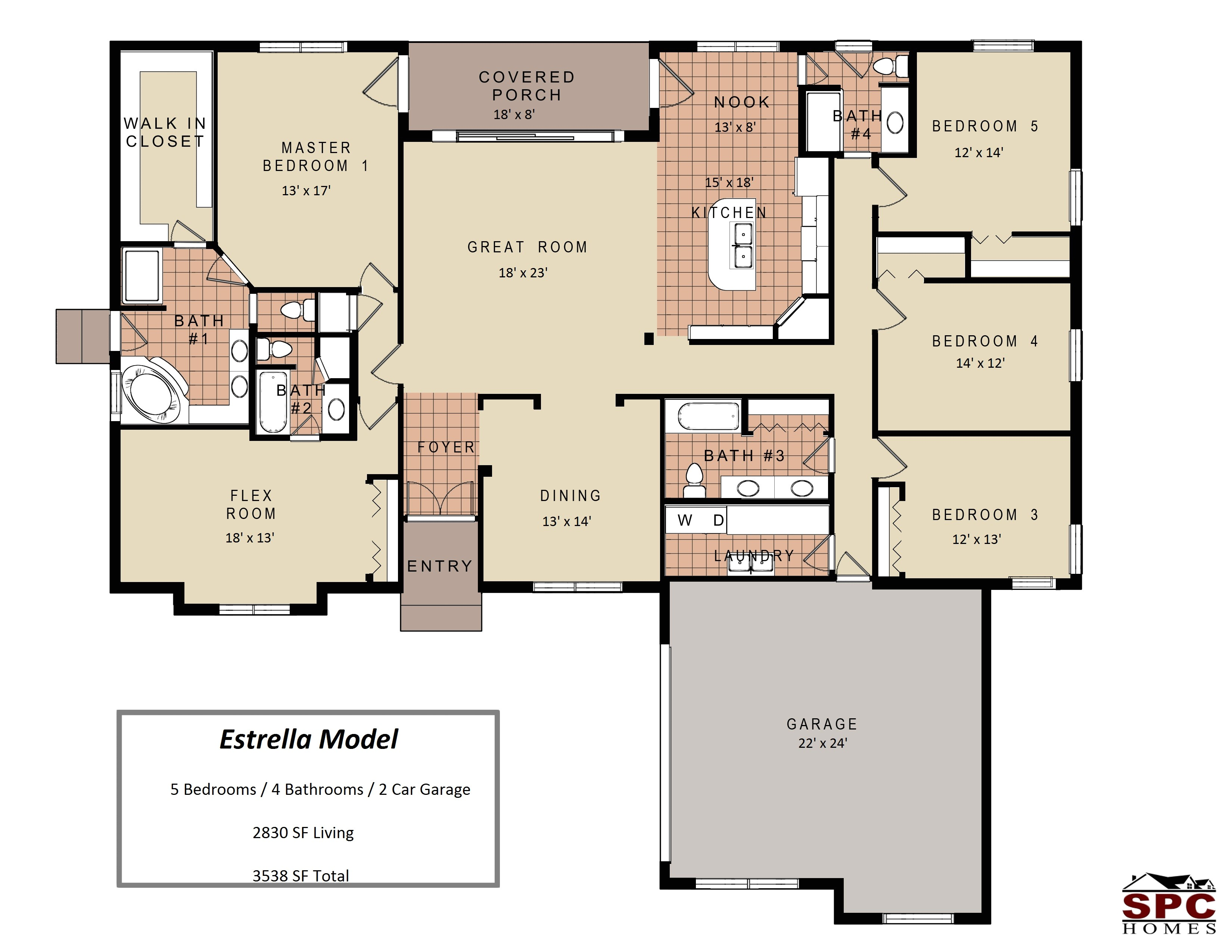 ideas about bedroom house plans country and 5 one story floor