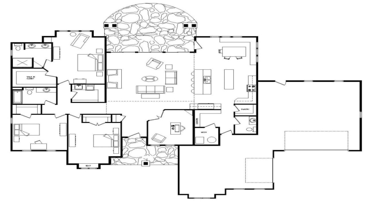 Floor Plans for Single Level Homes Single Story Open Floor Plans Open Floor Plans One Level