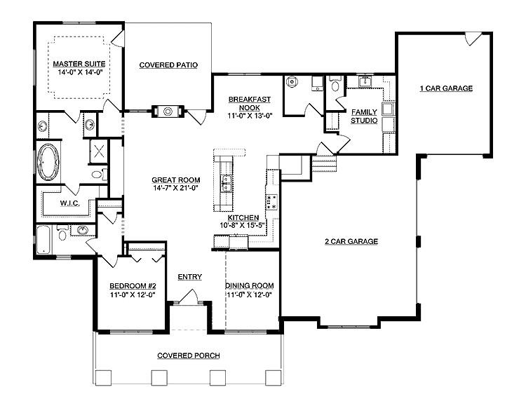 open floor plan house picture