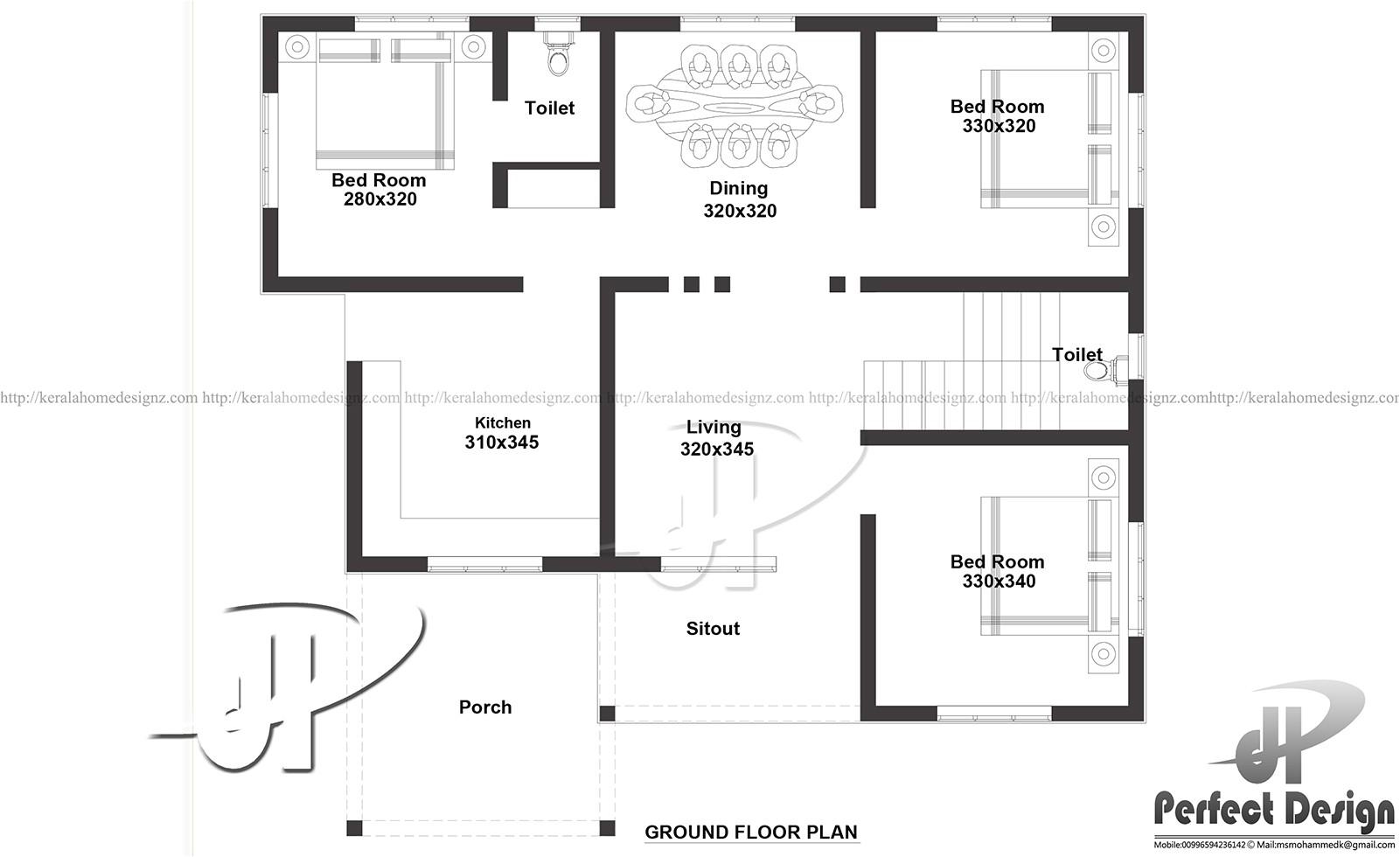 1000 sq ft modern single floor home
