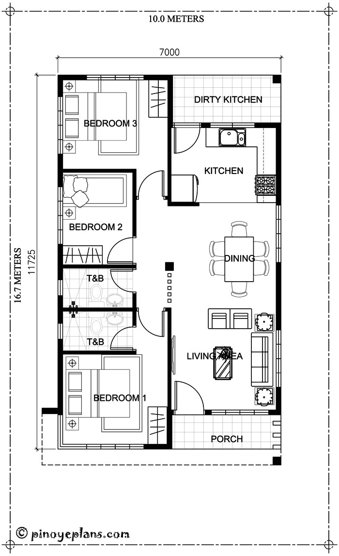 small bungalow house design and floor