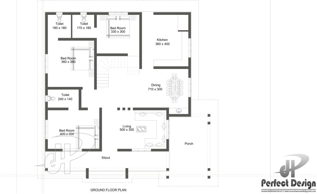 small house plan designed to be built 4