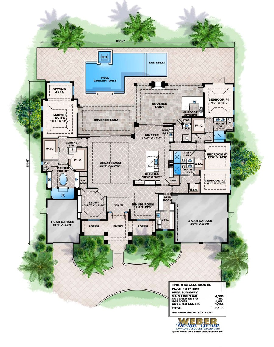 florida home plans with pool