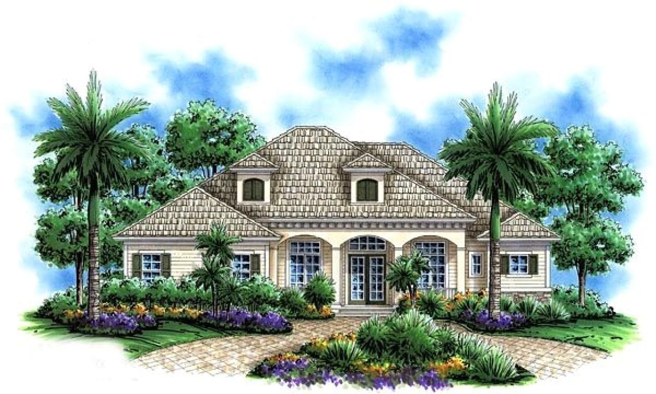 Florida Home Plans Florida Mediterranean House Plans One Story Mediterranean
