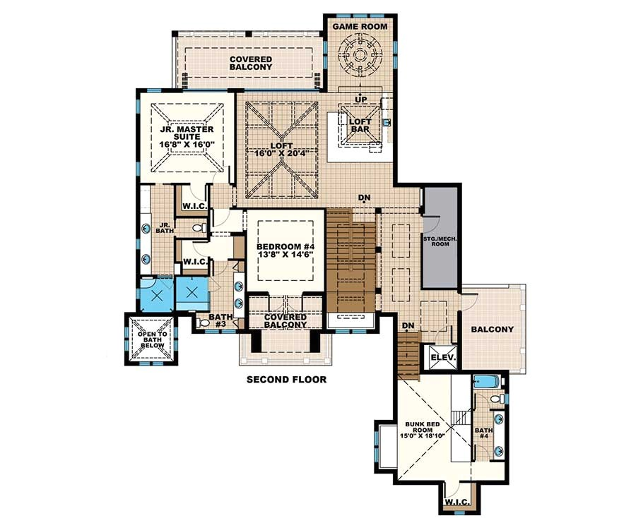 Florida House Plans with 2 Master Suites Grand Florida House Plan with Junior Master Suite Budron
