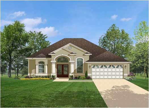 florida style house plans 1623 square foot home 1 story 3 bedroom and 2 bath 2 garage stalls by monster house plans plan95 128