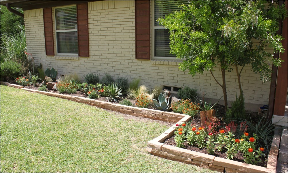 flower bed design front of house