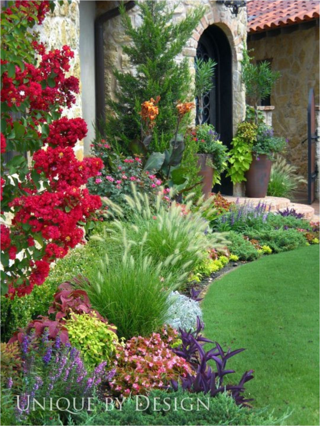flower beds in front of house ideas 4919
