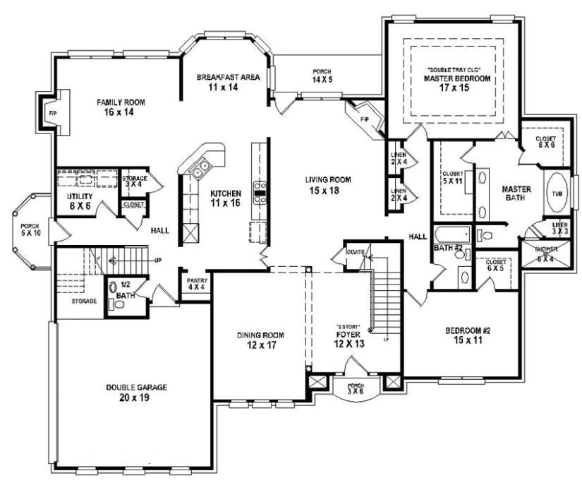 654258 4 bedroom 3 5 bath house plan