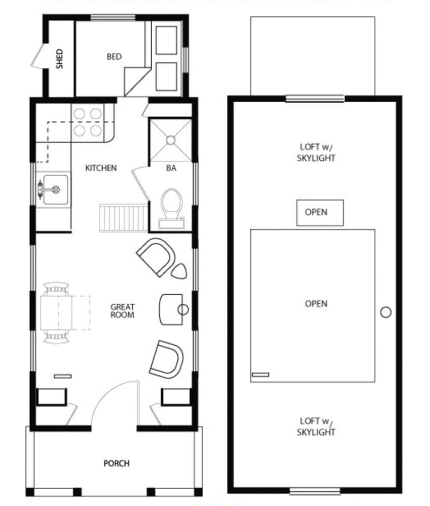 main floor plan four lights tiny house plans pinterest in micro home floor plans
