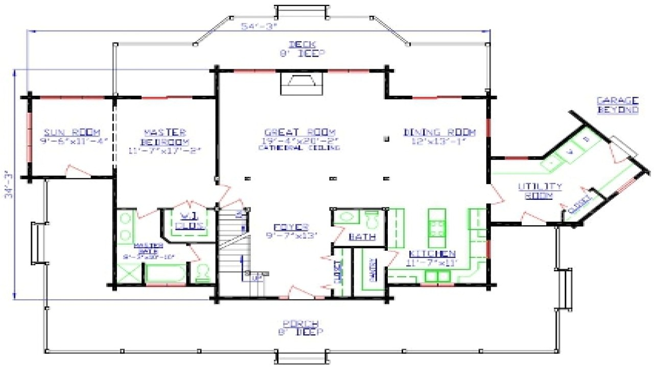 Free Architectural Plans for Homes Free Printable House Floor Plans Free Printable House
