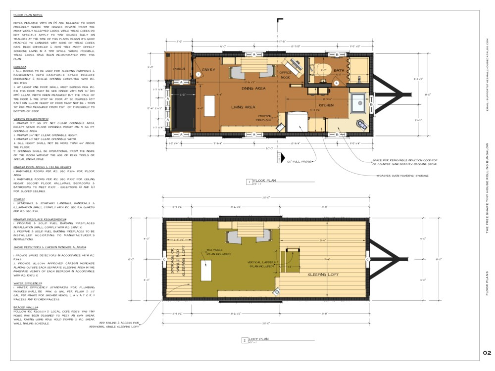 Free Architectural Plans for Homes Tiny House Floor Plans Free and This 1440129415082