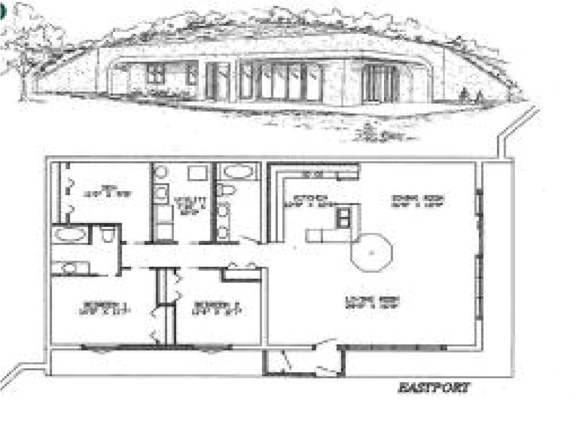 small earth berm house plans