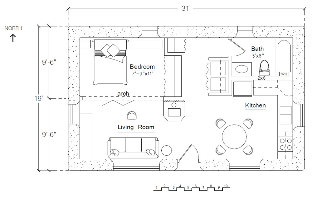 free economizer earthbag house plan