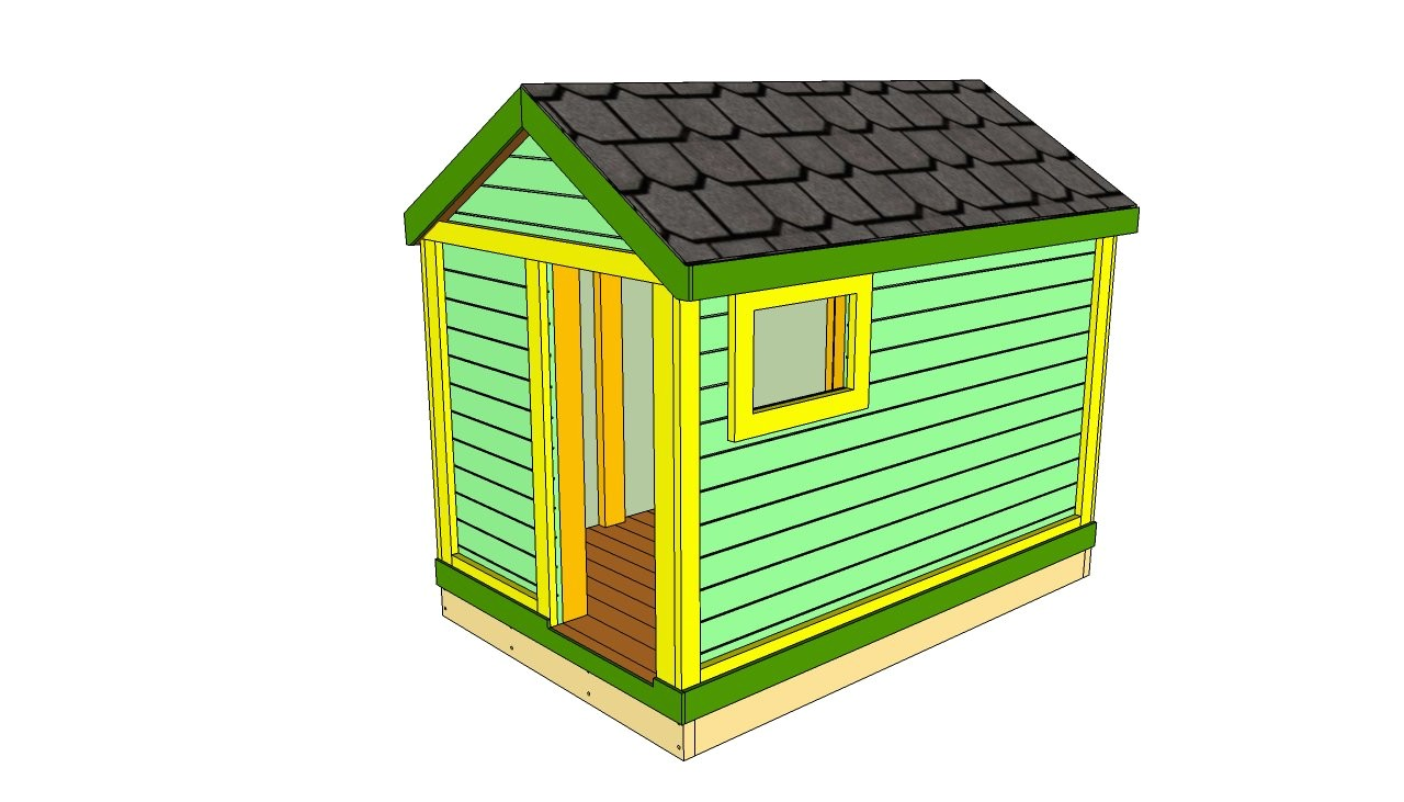 kids outdoor playhouse plans free