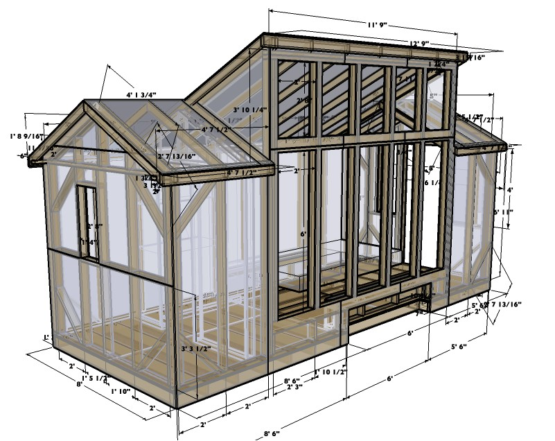 8x20 solar tiny house plans version 1 0