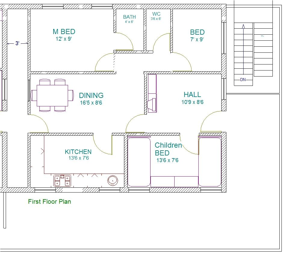 south facing house floor plans as per vastu