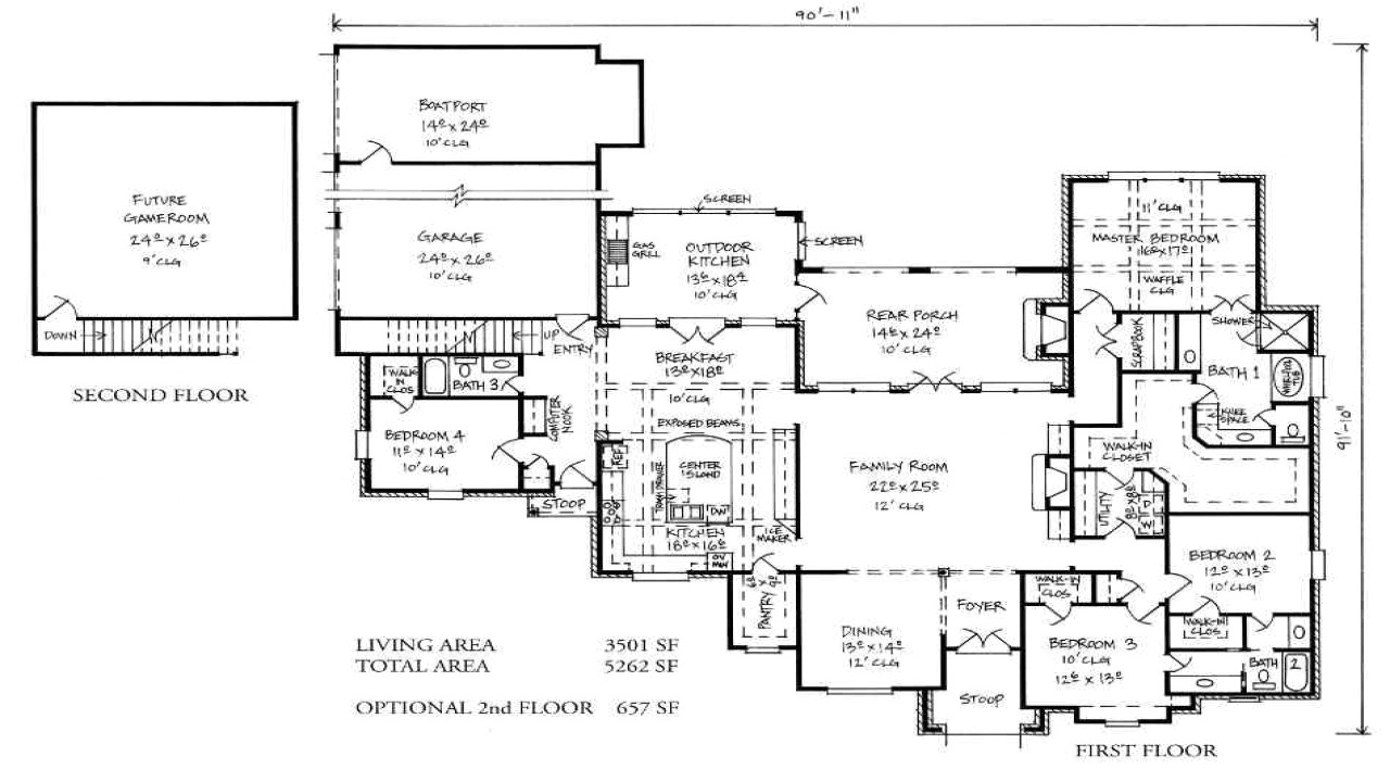 french quarter style house plan