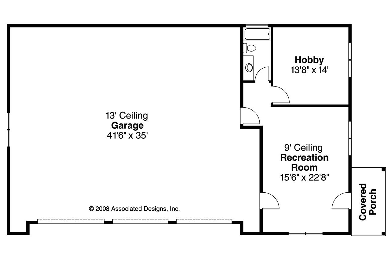 Garage Home Floor Plans Craftsman House Plans Rv Garage W Living 20 042