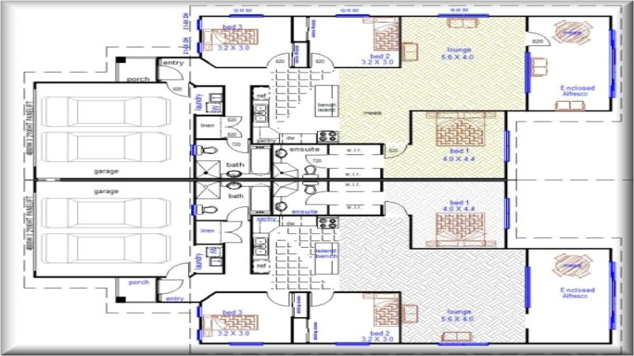 7d8b34528e6817e2 duplex house plans with garage duplex house plans designs